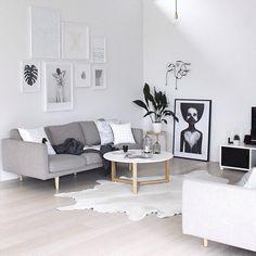 """@thedesignchaser living room. """"Leaf me"""" art print www.silkebonde.dk"""