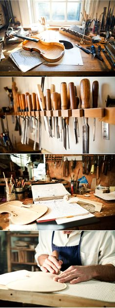 Violin Maker Sam Zygmuntowicz's workshop   http://honestlywtf.com/rarebirds/the-violin-maker/