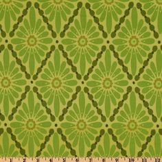 Urban Flannel Floral Diamonds Green