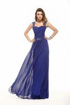 Blauen Mantel / Spalte Liebsten Abendkleid kv2408 - Silhouette: Mantel / Spalte; Stoff: Chiffon, Verzierungen: Drapiert, Perlen, Kristall,, Länge: Sweep / Pinsel Zug - Price: 164.8500 - Link: http://www.kleiderverkaufen.de/blauen-mantel-spalte-liebsten-ab
