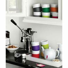 Contrast Mug and Espresso Cups from Royal Copenhagen. Dishwasher and Microwave Safe.  From $20