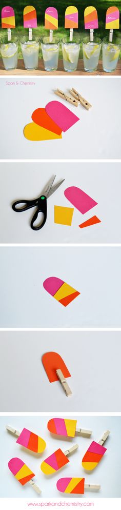 Make popsicle drink tags for summer Summer Birthday, First Birthday Parties, First Birthdays, Birthday Ideas, Summer Crafts, Summer Fun, Summer Time, Summer School Themes, Diy Party