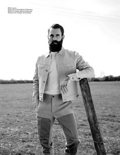 Beards, tattoos, gold teeth, cowboys – Good Folk by Alexandra Leese features the infamous Ricki Hall at Nevs and Danny Fox at Select for Cli. Fashion Shoot, Editorial Fashion, Ricki Hall, Bearded Tattooed Men, Clean Shaven, Beard No Mustache, Hair And Beard Styles, Hair Styles, Facial Hair