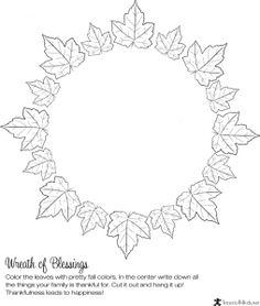 Thanksgiving Blessing Wreath – write the things you are thankful for in the midd… – Holiday Craft Ideas – Grandcrafter – DIY Christmas Ideas ♥ Homes Decoration Ideas Thanksgiving Activities For Kids, Thanksgiving Blessings, Thanksgiving Crafts For Kids, Autumn Crafts, Holiday Crafts, Classroom Crafts, Classroom Games, Middle School Activities, Crafts For Seniors