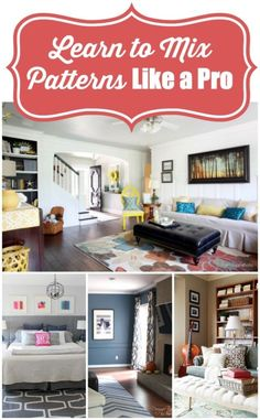 These easy tips will have even a non-decorator ready to mix patterns stylishly! #spon