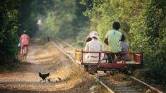 Bambu trenleri, Kamboçya