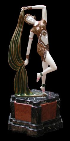 "Art Deco Sculpture ""Yambo"" by Demetre Chiparus"