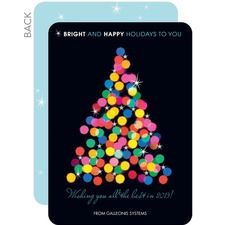 Sparkling Bright Business Holiday Cards
