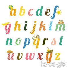 Playful letters vector