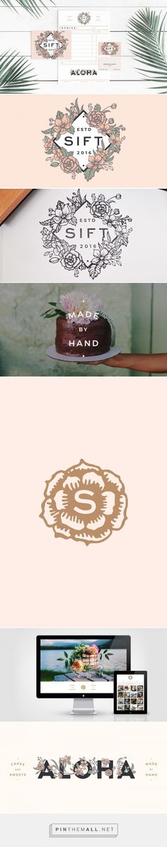 Sift Cakery Logo and Branding by Scott Naauao | Fivestar Branding Agency – Design and Branding Agency & Curated Inspiration Gallery #branding #brand #logo #logoinspirations #design #designinspiration