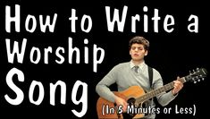 Messy Mondays: How to Write a Worship Song (In 5 Minutes or Less), via YouTube. So true! hahah!