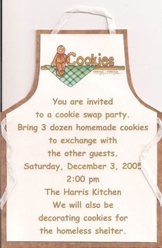What a great idea, a cookie/recipe swap party...