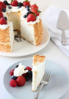 Honey Coconut Angel Food Cake