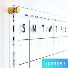 Acrylic Calendar with side notes - Dry Erase Calendar - Lucite Calendar - STANDARD Magazine Design, Graphic Design Magazine, Custom Calendar, Design Bauhaus, Week Schedule, Identity, Writing Area, Colored Chalk, Manualidades