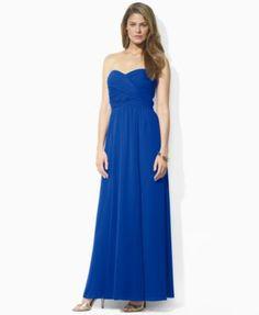 Lauren Ralph Lauren Strapless Sweetheart Gown
