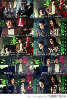 She is a woman and she's the TARDIS