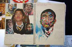 identity gcse artist - Google Search Sketchbook Layout, Artist Sketchbook, Sketchbook Pages, Sketchbook Ideas, Identity Artists, A Level Art, Crafts For Boys, Art Club, Rainbow Colors