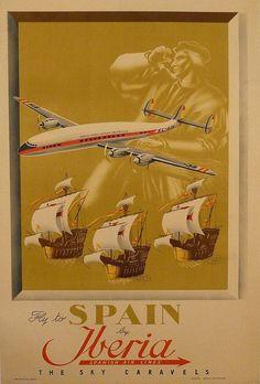 Súper constellation at Iberia fleet Travel Ads, Travel And Tourism, Vintage Advertisements, Vintage Ads, Belle Epoque, Retro, Tourism Poster, Vintage Airplanes, Art Graphique