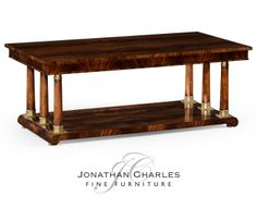 Mahogany biedermeier style rectangular coffee table #hpmkt #jcfurniture #jonathancharles #Furniture #InteriorDesign #decorex #Knightsbridge
