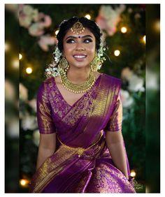 South Indian Wedding Saree, Indian Bridal Sarees, Bridal Silk Saree, Indian Bridal Outfits, Indian Bridal Wear, South Indian Sarees, Pattu Sarees Wedding, Kerala Wedding Saree, Kerala Bride