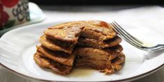 Pumpkin pancakes for one