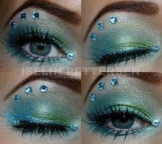 Image result for green mermaid makeup