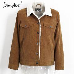 Simplee Corduroy Jacket