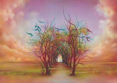 Birds Of Rainbow Mist by Anna Ewa Miarczynska