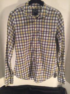 American Eagle Classic Prep Fit Plaid Long Sleeve Button Down Shirt Sz S-Junior    eBay