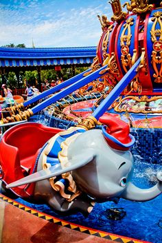New Fantasyland. Storybook Circus. Dumbo. Ride it at night, the water changes colors and its amazing to see at night!
