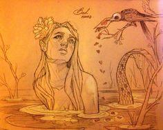 Bad news - By Chiara Bautista Art And Illustration, Fantasy Kunst, Fantasy Art, Chiara Bautista, Photo D Art, Mermaids And Mermen, Inspiration Art, Art Design, Beautiful Artwork