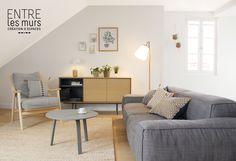 """Rénovation d'un appartement sous les toits à Aix les Bains - Réalisation agence """"Entre Les Murs"""""""