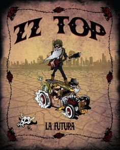 ZZ Top Poster by Mike Richardson Rock Posters, Band Posters, Music Posters, Vintage Concert Posters, Vintage Posters, Muro Rock, Pierre Brice, Zz Top, Vintage Rock
