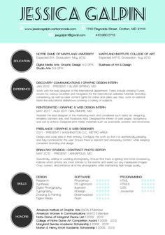 Example of design resume