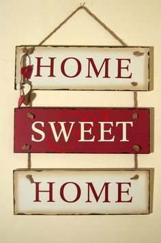 Image detail for -... Signs and Plaques / Vintage Style Wooden Red/Cream Hanging Wall Sign