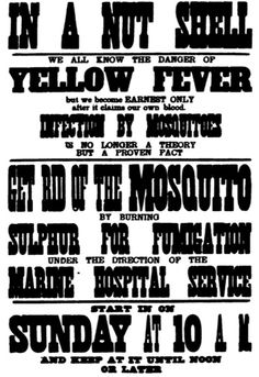 Yellow Fever Prophylaxis in New Orleans, The deadliest, most awe-inspiring of the plagues. New Orleans History, Yellow Fever, Medical History, Cabin Fever, 19th Century, Fun Facts, Medicine, Signs, Health