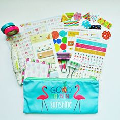 Shop: mydecoratedbliss.bigcartel.com This lovely planner includes:1 pencil case1 Mojiliner decoration tape2 slim washi tapes (pink and blue)2 binder clips1 sticky note strips (Everyone Loves Flowers)1 pineapple memo sticky notesSticker flakesMy Melody Diary Stickers (3 sheets)Bow stickers (2 sheets)