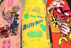 Oh Christ, apparently if I'd saved my first big, clunky G&S board with the squishy trucks (I liked them that way) and stupid 75-lb. rails, I'd be rich(er) now. /// G&S Billy Ruff Old School Skateboard Decks Gordon And Smith