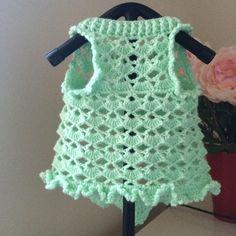 Crochet vestido dulce perro