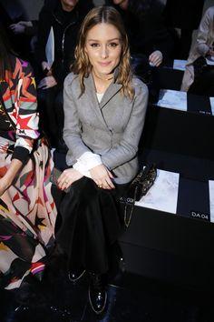 Olivia Palermo at Elie Saab Front Row at Paris Fashion Week Fall 2017 on March 4, 2017