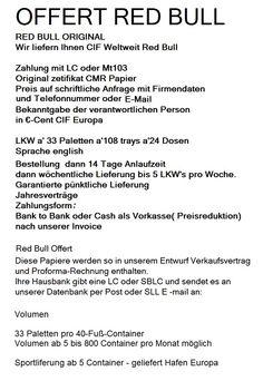 Red Bull Parallel Trading Beverage Market:     OFFERT +49-177-2557763 broker.grimm@gmx.de    ...