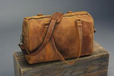 Weekender Leather Bag /  Overnight Bag / Leather di MemelBags