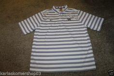 NWT Nike Fit Dry Mens Washington Huskies Striped Polo Shirt Size Large