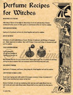 Recipe for Making Lotions & Perfume Potions for Wicca Spell Book of Shadows Magick Spells, Wicca Witchcraft, Blood Magick, Blood Magic Spells, Real Spells, Money Spells, Religion Wicca, Witch Spell Book, Spell Books