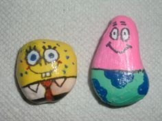 Sponge Bob and Patrick - painted rocks
