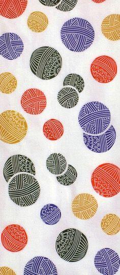 Pelote de laine stylisée