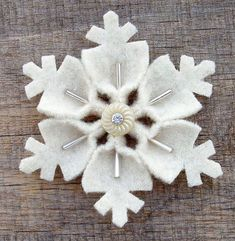 Gorgeous beaded & button Christmas snowflake ornament to make. No instructions, just use your creativity.