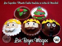 Cupcakes navideños: reyesmagos.