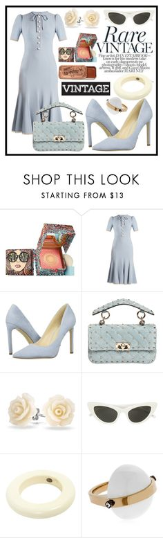 """""""UNTITLED"""" by seus-eky ❤ liked on Polyvore featuring Benefit, Dolce&Gabbana, Nine West, Valentino, Bling Jewelry, Christian Dior and May Moma"""