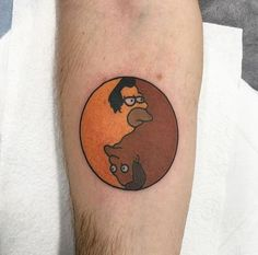 inked – #Lenny #Carl #Yin #Yang #The #Simpsons #Tattoo